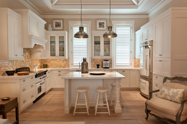 Legacy Cabinets Kitchen Traditional with Beige Tile Backsplash Beige