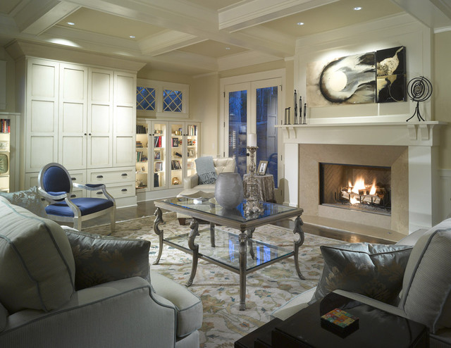 Lennox Fireplaces Living Room Traditional with Area Rug Bookcase Bookshelves