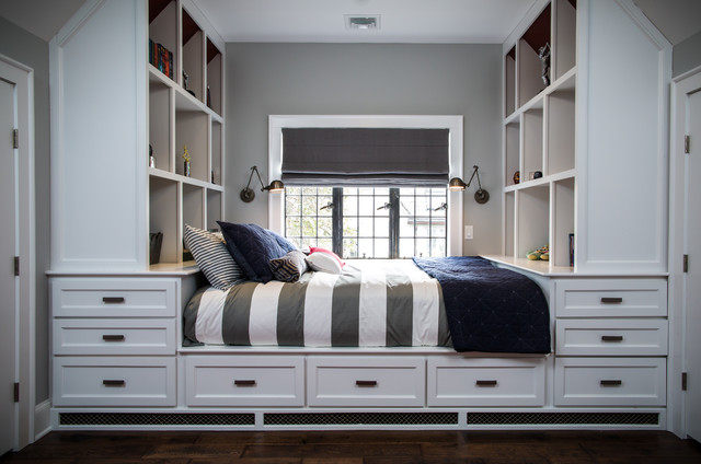 Levolor Shades Kids Transitional with Attic Baseball Theme Bed