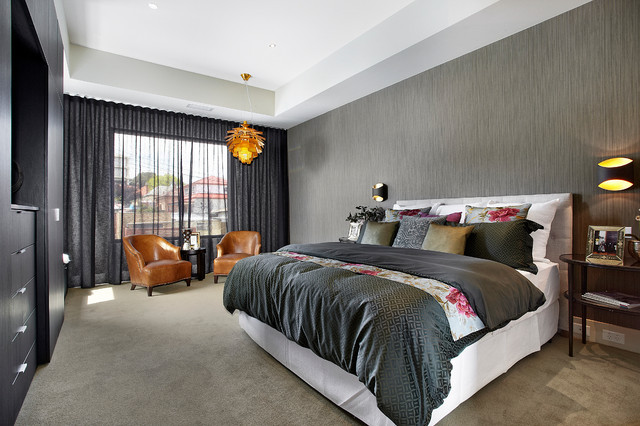 Light Blocking Curtains Bedroom Contemporary with Artichoke Light Bedroom Bedside