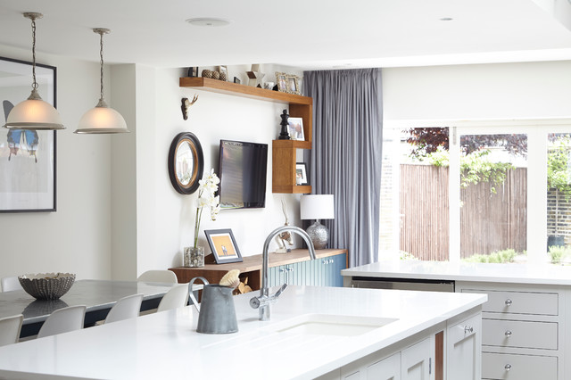 Light Blocking Curtains Kitchen Transitional with Beer Fridge Display Cabinet