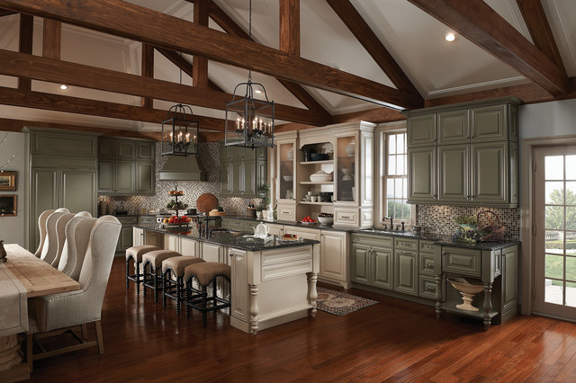 Lily Ann Cabinets Spaces Traditional with American Classics Kitchen Cabinets