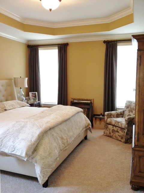 Linen Curtain Panels Bedroom Traditional with Brown Curtain Design Draperies2