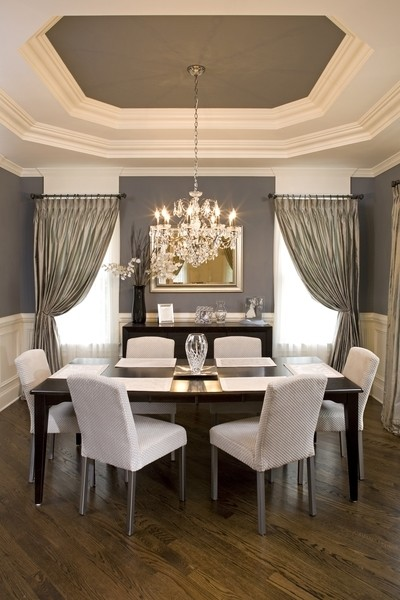 linen curtain panels Dining Room with CategoryDining RoomLocationChicago