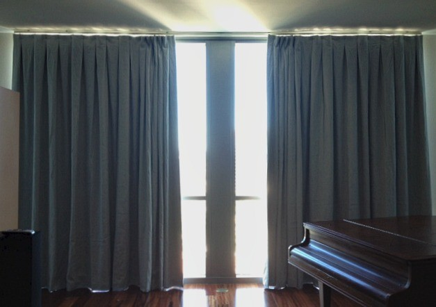 Linen Curtain Panels Spaces Traditional with Blackout Blue Curtain Design