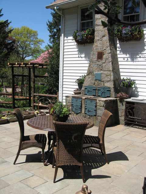 lloyd flanders Patio Traditional with arbor barbecue centerpiece chimney
