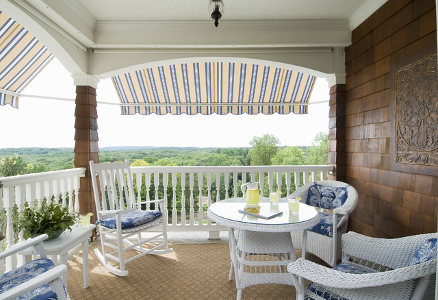 Lloyd Flanders Porch Traditional with Awning Blue Lemonade Porch