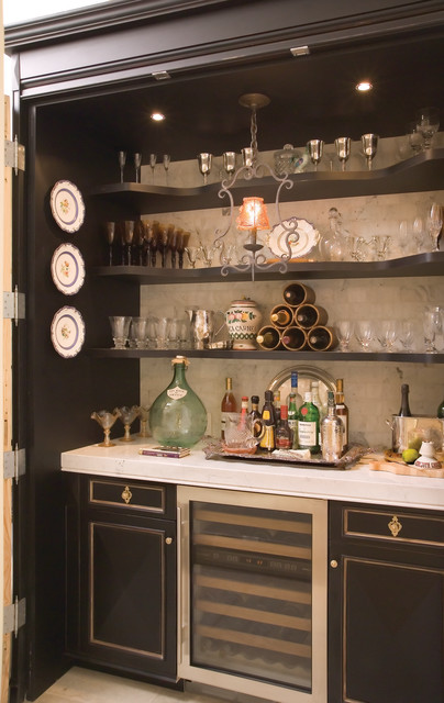 Locking Liquor Cabinet Kitchen Traditional with Black Cabinets Black Shelves