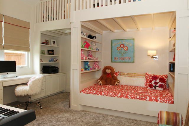 Loft Bed with Desk Underneath Kids Contemporary with Bedroom Loft Beige Carpet