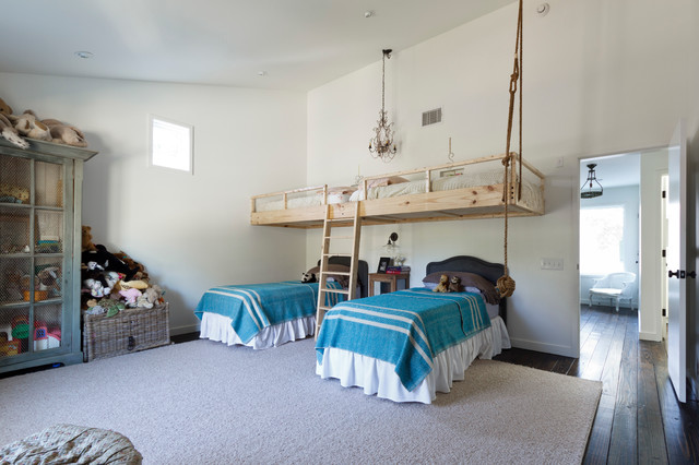 Loft Beds for Adults Kids Contemporary with Black Twin Headboards Blue
