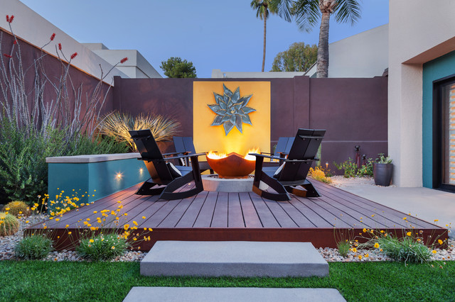 Loll Designs Deck Contemporary with Adirondack Chairs Backyard Desert