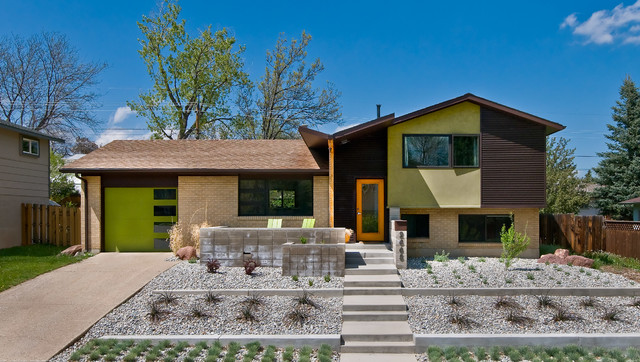 Loll Designs Exterior Midcentury with Blond Brick Blonde Brick