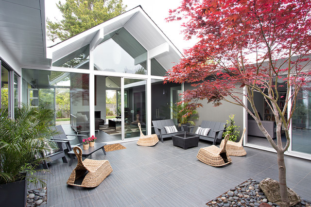Loll Designs Patio Midcentury with Eichler Floor to Ceiling