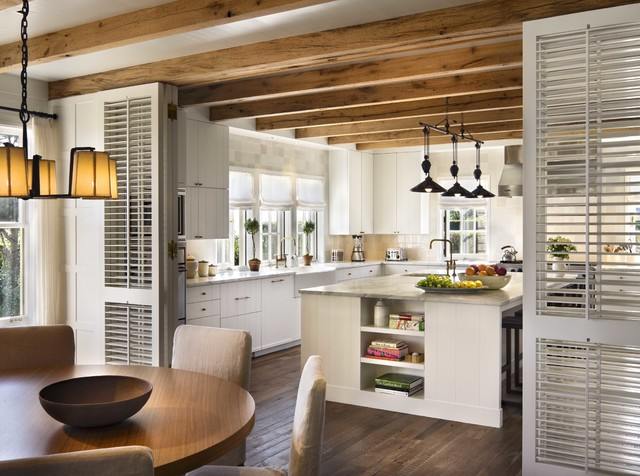 Louvered Doors Kitchen Beach with Exposed Beams Louvered Door
