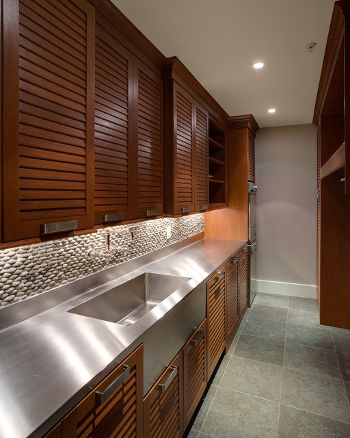 Louvered Doors Laundry Room Contemporary with Built in Cupboards Gray