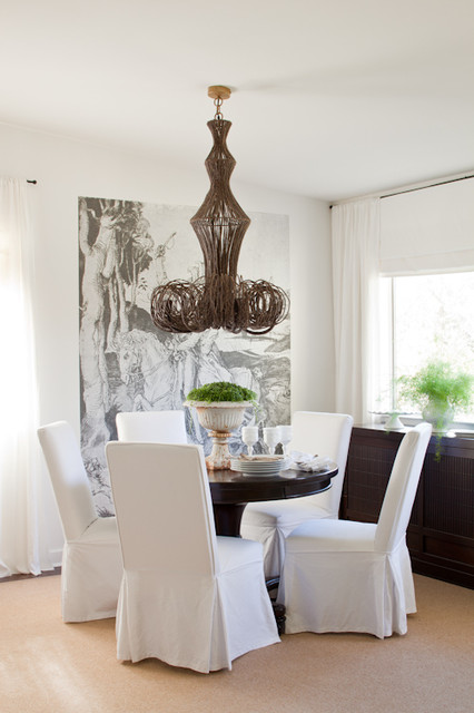Love Seat Covers Dining Room Eclectic with Branch Chandelier Dining Room