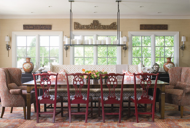 Love Seat Slip Covers Dining Room Traditional with Area Rug Bold Patterns