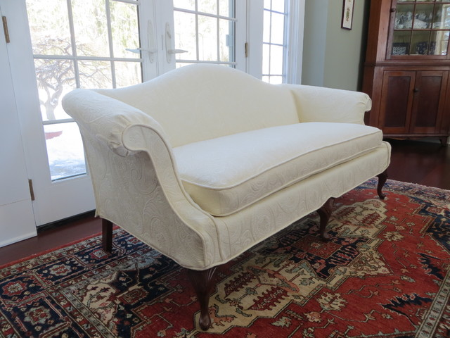 Loveseat Slipcovers Spaces Traditional with Exposed Legs Ivory Loveseat1