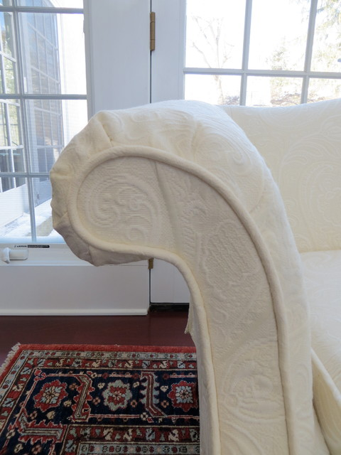 Loveseat Slipcovers Spaces Traditional with Exposed Legs Ivory Loveseat2