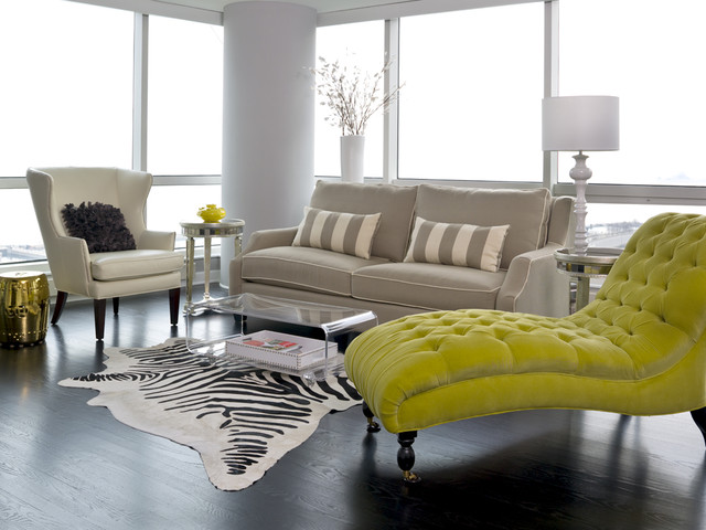Loveseat with Chaise Living Room Transitional with Chaise Longue Contemporary Dark