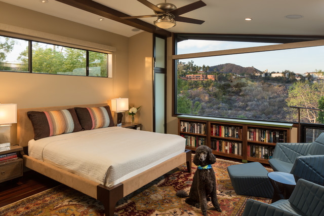 Low Bookcase Bedroom Contemporary with Ceiling Fan Low Bookcase