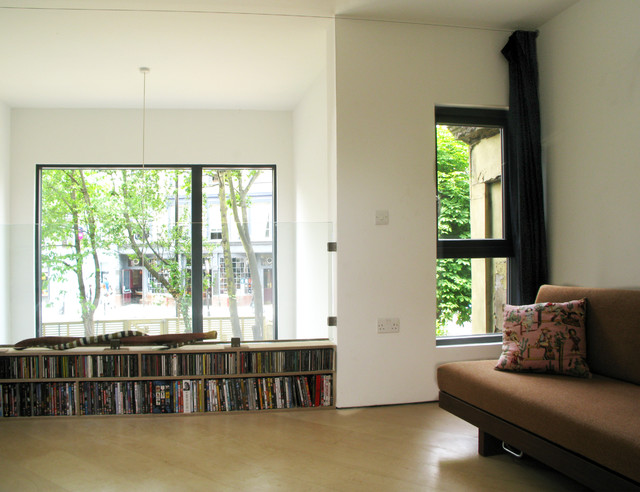 low bookcase Spaces Contemporary with balcony bookcase bookshelves built