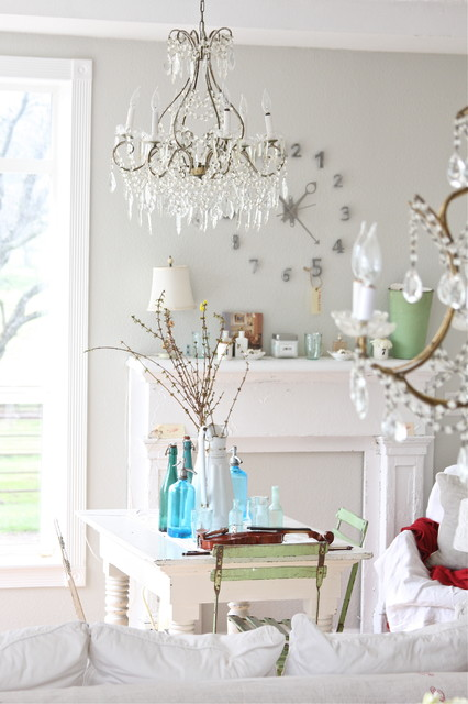 Lowes Chandeliers Dining Room Shabby Chic with Bistro Chair Botle Crystal