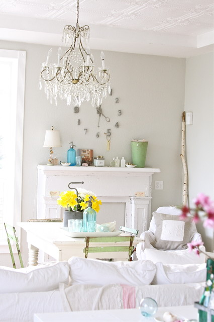 Lowes Chandeliers Dining Room Shabby Chic with Bistro Chair Bottle Clock