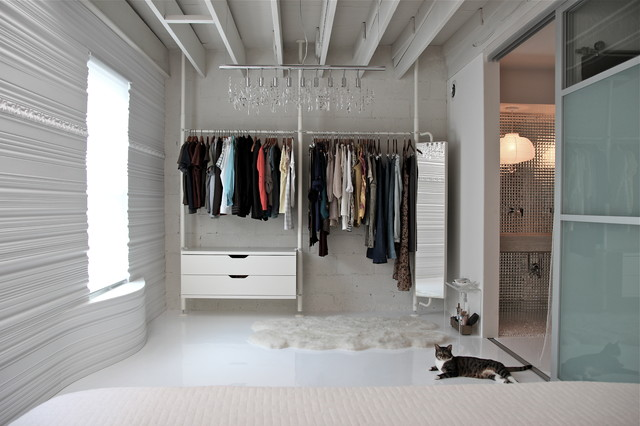 Lowes Closet Systems Closet Contemporary with Cinder Block Walls Curved