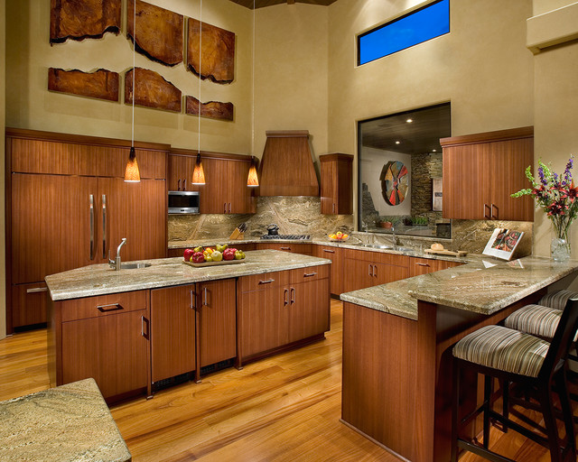 lowes granite countertops Kitchen Contemporary with bar stool beige granite