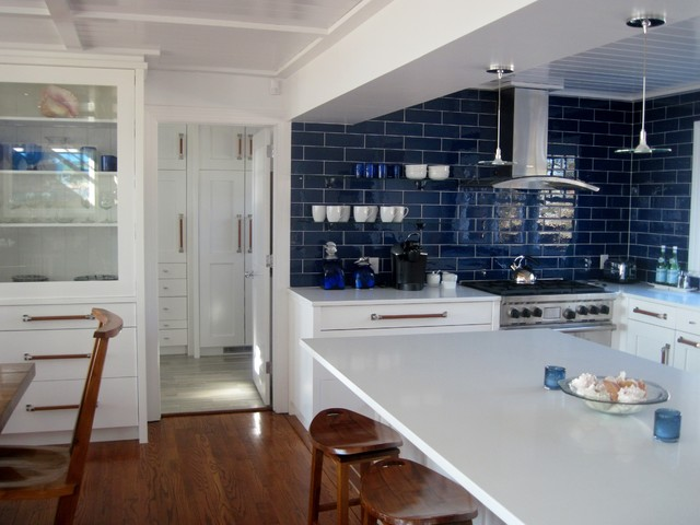 lowes manchester ct Kitchen Contemporary with blue tile breakfast bar