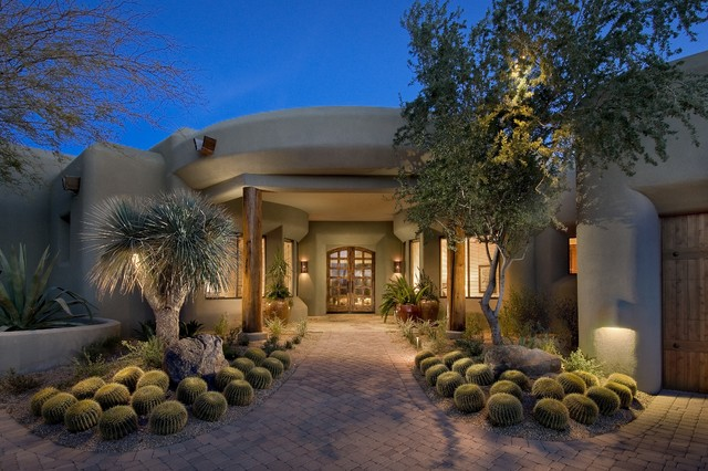 Lowes Scottsdale Landscape Southwestern with Double Entry Doors Entry
