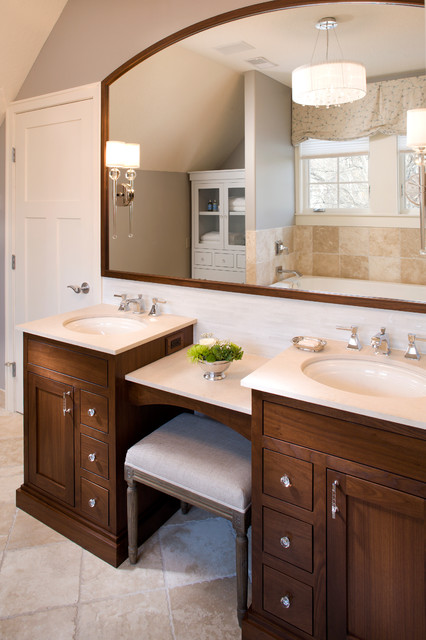 Lowes Vanity Tops Bathroom Traditional with Arced Mirror Bench Dual