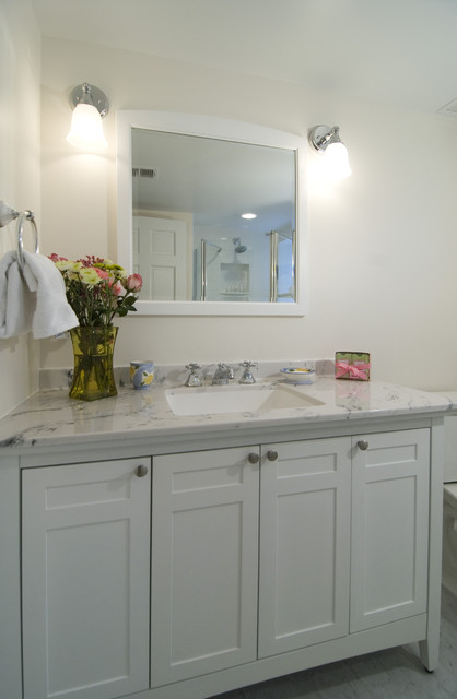 Lowes Vanity Tops Bathroom Traditional with Carerra Marble Gray Floor