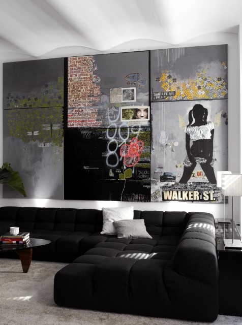Lowes Watertown Ny Living Room Contemporary with Art Artwork Bb Sofa