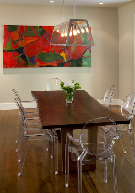 Lucite Chair Dining Room Contemporary with Ceiling Lighting Centerpiece Chandelier
