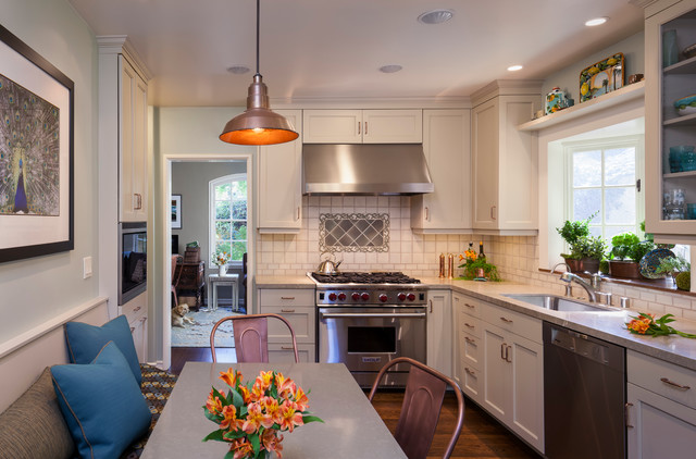Lunada Bay Tile Kitchen Contemporary with Accent Tile Banquette Bay