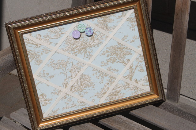 Magnetic Bulletin Board Spaces with Framed Chalkboard Framed Magnet