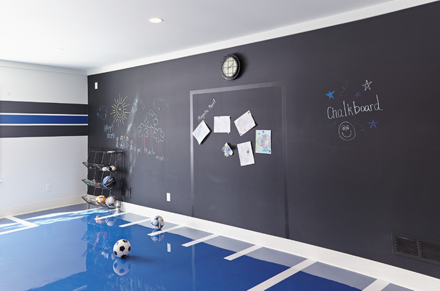 Magnetic Chalkboard Kids Beach with Blue Floor Chalkboard Wall