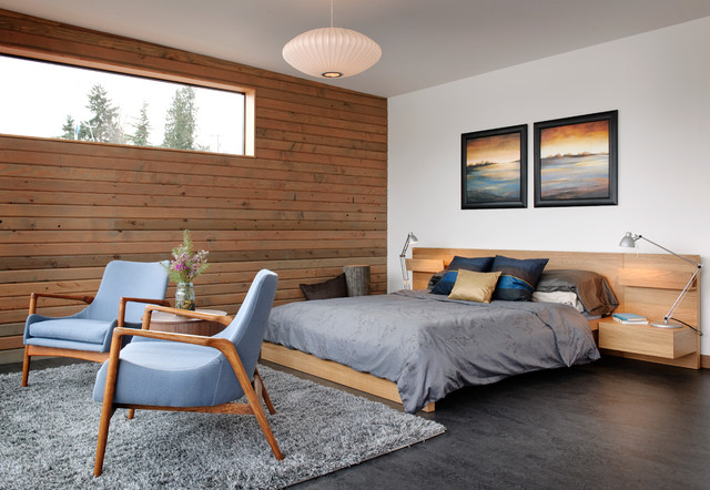 Malm Bed Bedroom Industrial with Area Rug Artwork Blue