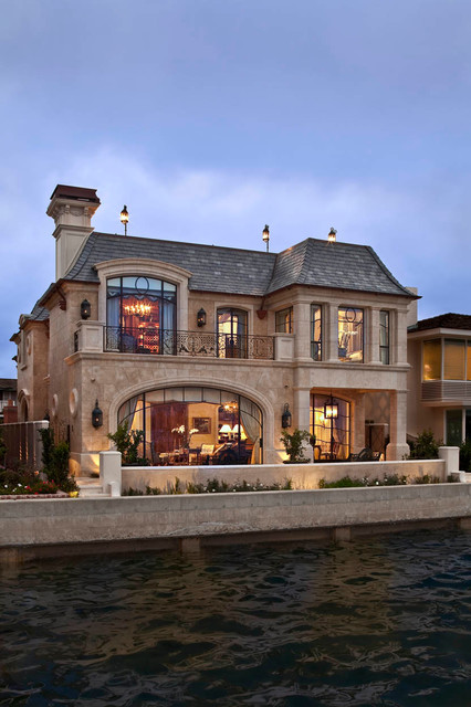 Mansard Roof Exterior Traditional with Beige Stucco Exterior Beige