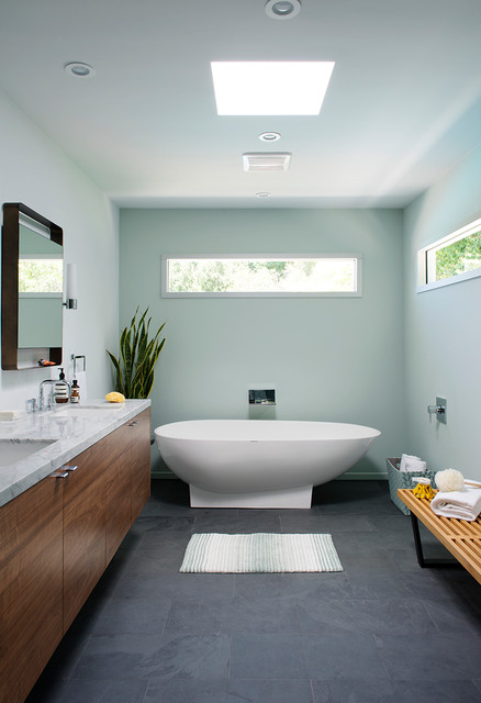Mapei Grout Colors Bathroom Midcentury with Aqua Brass Asymmetrical Axor