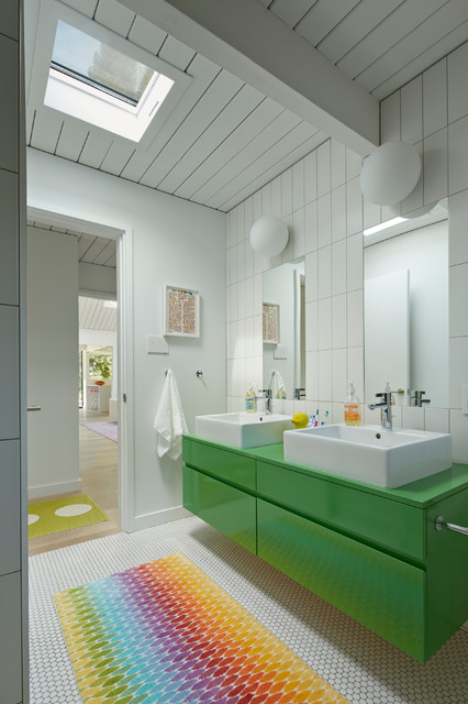 Mapei Grout Colors Bathroom Midcentury with Bright Colors Brightly Colored