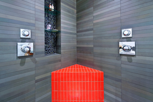 Mapei Grout Colors Bathroom Modern with Accent Color Bold Color