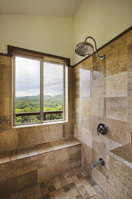 Mapei Grout Colors Bathroom Tropical with Built in Seating Earth
