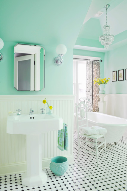 Mapei Grout Colors Bathroom Victorian with Aquagreen Wall Color Beadboard
