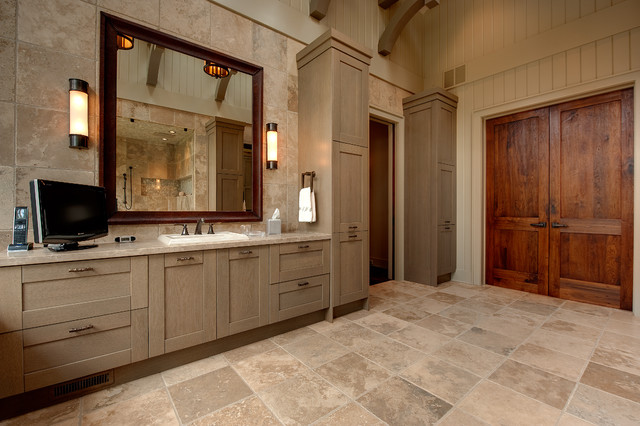 Marazzi Tile Bathroom Rustic with Bathroom Lighting Bathroom Storage