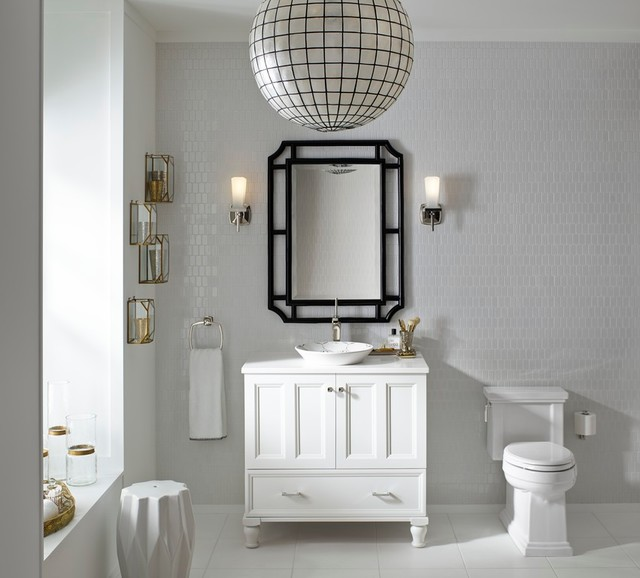 Marble Subway Tile Bathroom Eclectic with Bathroom Furniture Bathroom Mirrors