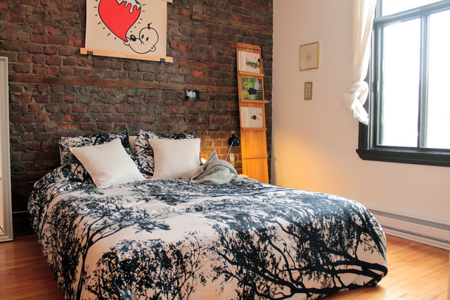 marimekko bedding Bedroom Eclectic with black and white bedding