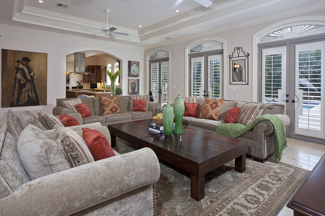 massoud furniture Family Room Traditional with accent colors area rug